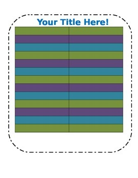 Blank Chart Template in fun colors (3)