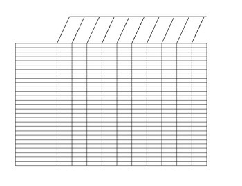 Blank Checklist Form for Classes