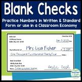 Blank Checks - Fun Way to Practice Writing Large Numbers