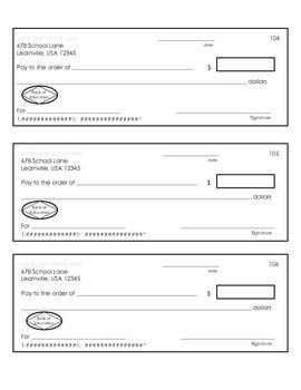 Blank Checks and Check Register