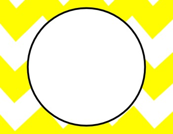 Blank Chevron Circle Posters