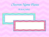 Blank Chevron Name Plates