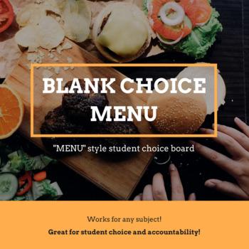 Blank Choice Menu