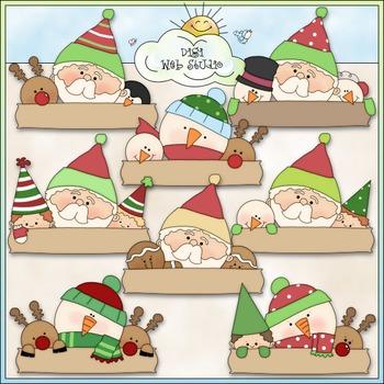 Blank Christmas Greetings Clip Art - Christmas Clip Art - CU Clip Art & B&W