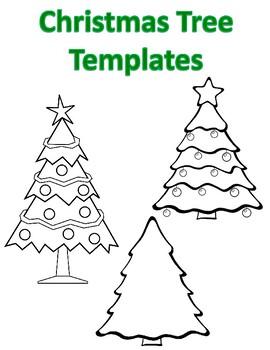 Blank Christmas Tree Templates Christmas Tree Coloring ...