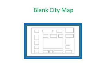 Blank Town Map Around the City Spanish Vocabulary  Blank City Map by Lauren Dixon