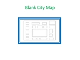 Around the City Spanish Vocabulary- Blank City Map