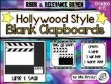Hollywood Theme Blank Clapboard Movable Printable