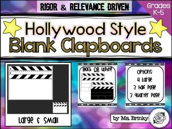 Blank Clapboard Template