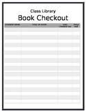 Blank Class Library Check Out Form