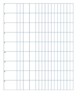 Blank Class List Form