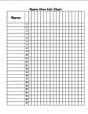 Blank Class List Table