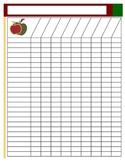 Blank Class Lists - Editable