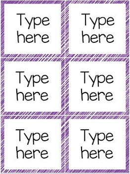 Classroom Labels - Blank and Editable (Scribble Frames)
