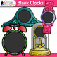Blank Clock Clip Art {Clock Face Frames & Templates for Measurement Resources}