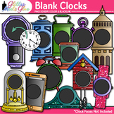 Blank Clock Clip Art | Clock Face Frames & Templates for Measurement Resources