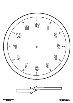 photo regarding Printable Clock Face Template known as Blank Clock Confront Worksheet