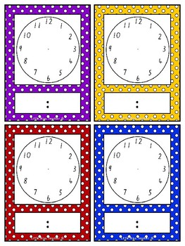 Blank Clock Faces for Time Activities - Digital and Analogue!