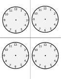 Blank Clock Print & Cut - Time