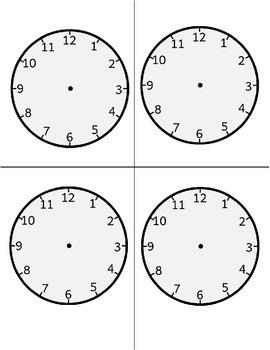 Blank Clock Print & Cut - Time