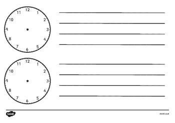 Blank Clock Templates