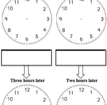 Blank Clocks Drawing Time Challenge Worksheet