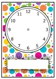 Blank Clocks For Teaching Time