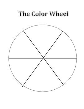 Blank Color Wheel by Kristin Hartford | Teachers Pay Teachers