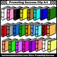 Colorful Library Books Clip Art for TpT Sellers SPS