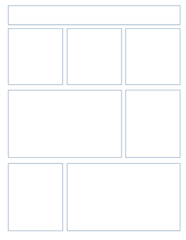 Blank Comic Book Pages