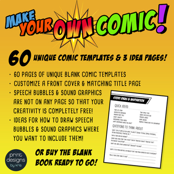 Blank Comic Book Templates • Create Your Own Comic Book