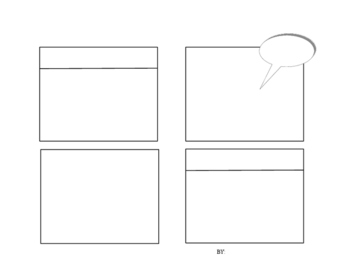 Blank Comic Strip - 4 boxes