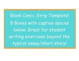 Blank Comic Strip Template.