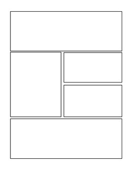 blank comic strip template by sara knigge teachers pay teachers. Black Bedroom Furniture Sets. Home Design Ideas