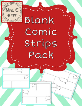 Blank Comic Strips Pack