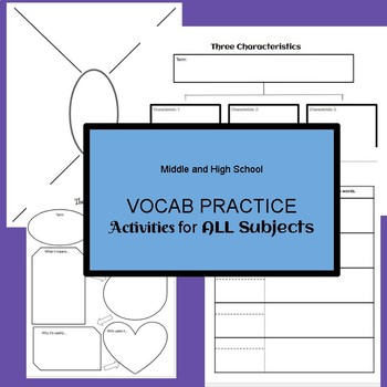 Vocabulary Practice Activities For Any Subject