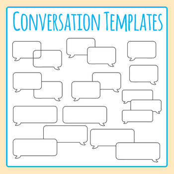 Blank Conversation / Communication Template Clip Art Set for Commercial Use
