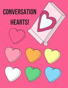 Blank Conversation Hearts Clip Art