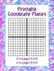 Blank Coordinate Planes -8 to 8
