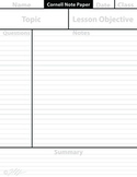 Blank Cornell Note Paper