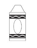 Blank Crayon Template (Door decoration, Name plates, Bulletin Board)