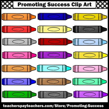 Blank Crayons Clip Art, Colors Clipart, Back to School Commercial Use SPS