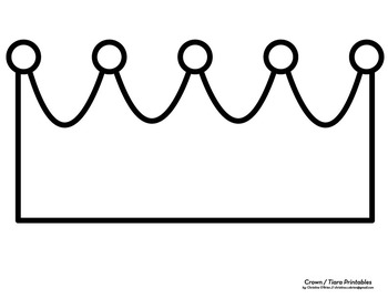 Blank Crown Printables and Clip Art Set
