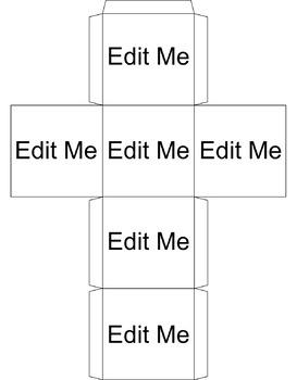 Blank Cube Template - Editable by Live Love and Teach | TpT