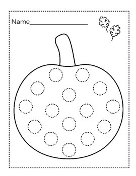 Blank, Customizable Fall Do-a-Dot Worksheets