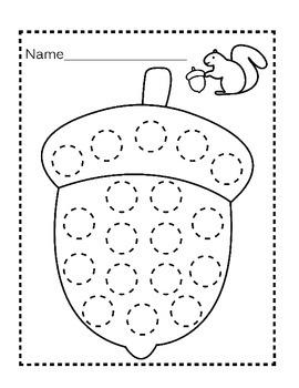 Blank, Customizable Fall Do-a-Dot Worksheets