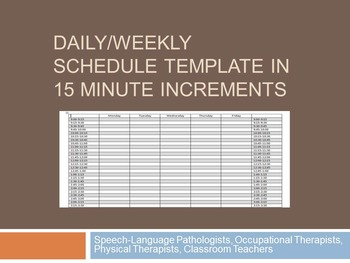 Teachers Pay Teachers  Daily Weekly Schedule Template
