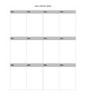Blank Data Collection Printable
