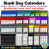 Blank Day Calendars Clip Art for Personal and Commercial Use