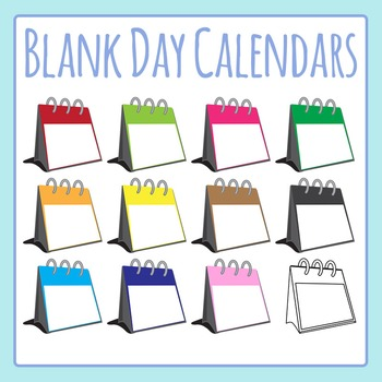Blank Day Calendars for Special Events Clip Art Set for Commercial Use